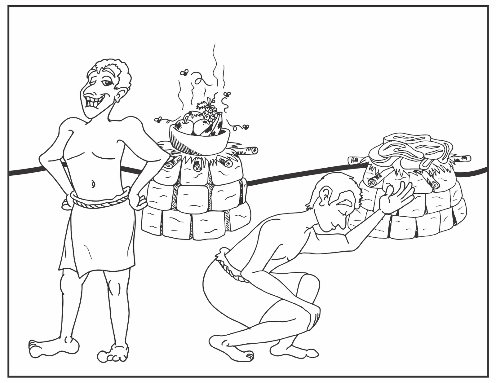 Cain And Abel Bible Coloring Pages Sketch Coloring Page
