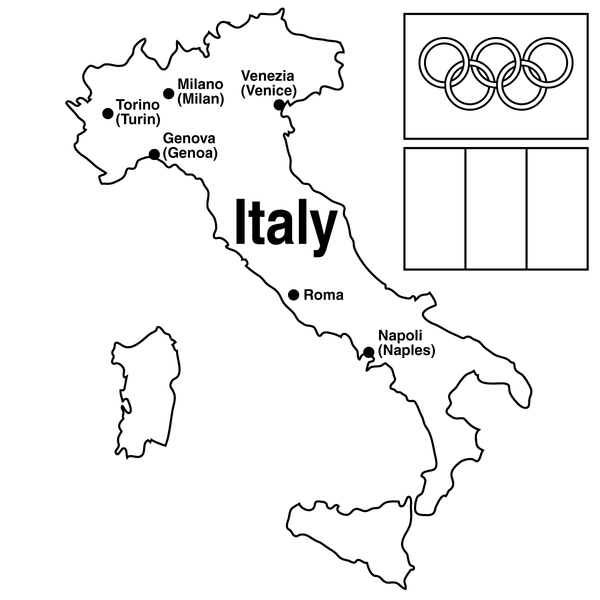 Printable Map Of Italy For Kids