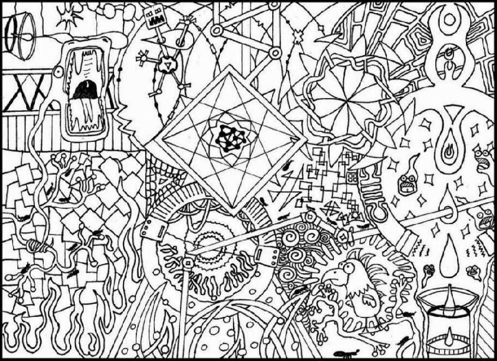 Printable Trippy Coloring Pages Coloring Home