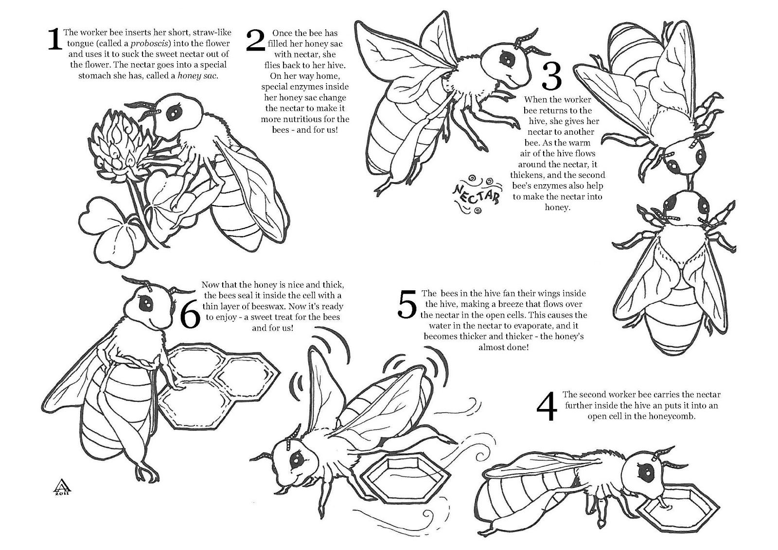Bee Attitudes Sheet Coloring Pages