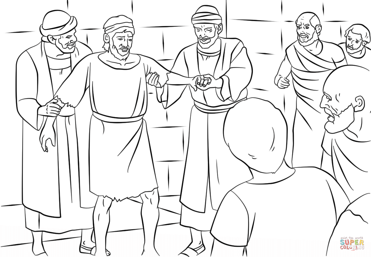 Shipwrecked Paul Coloring Pages