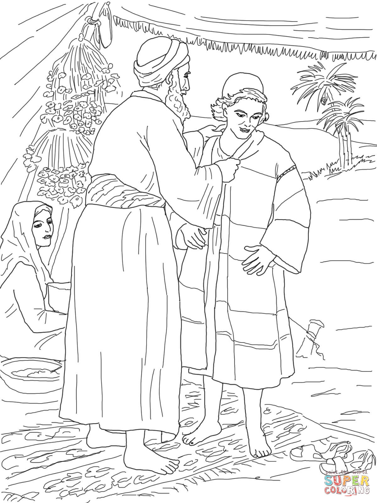 Coloring Page Joseph Coat Of Many Colors