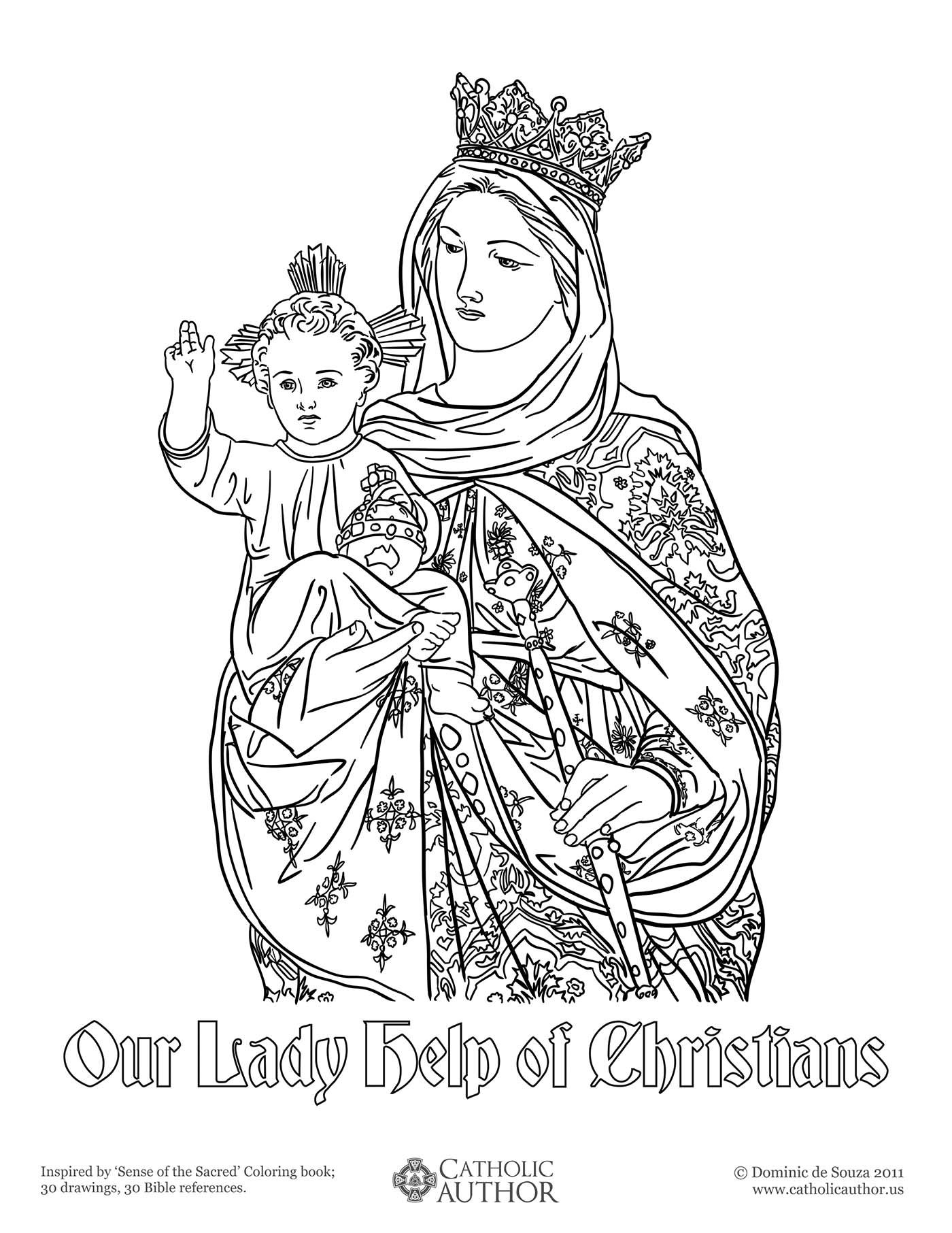 Blessed Mary Coloring Pages