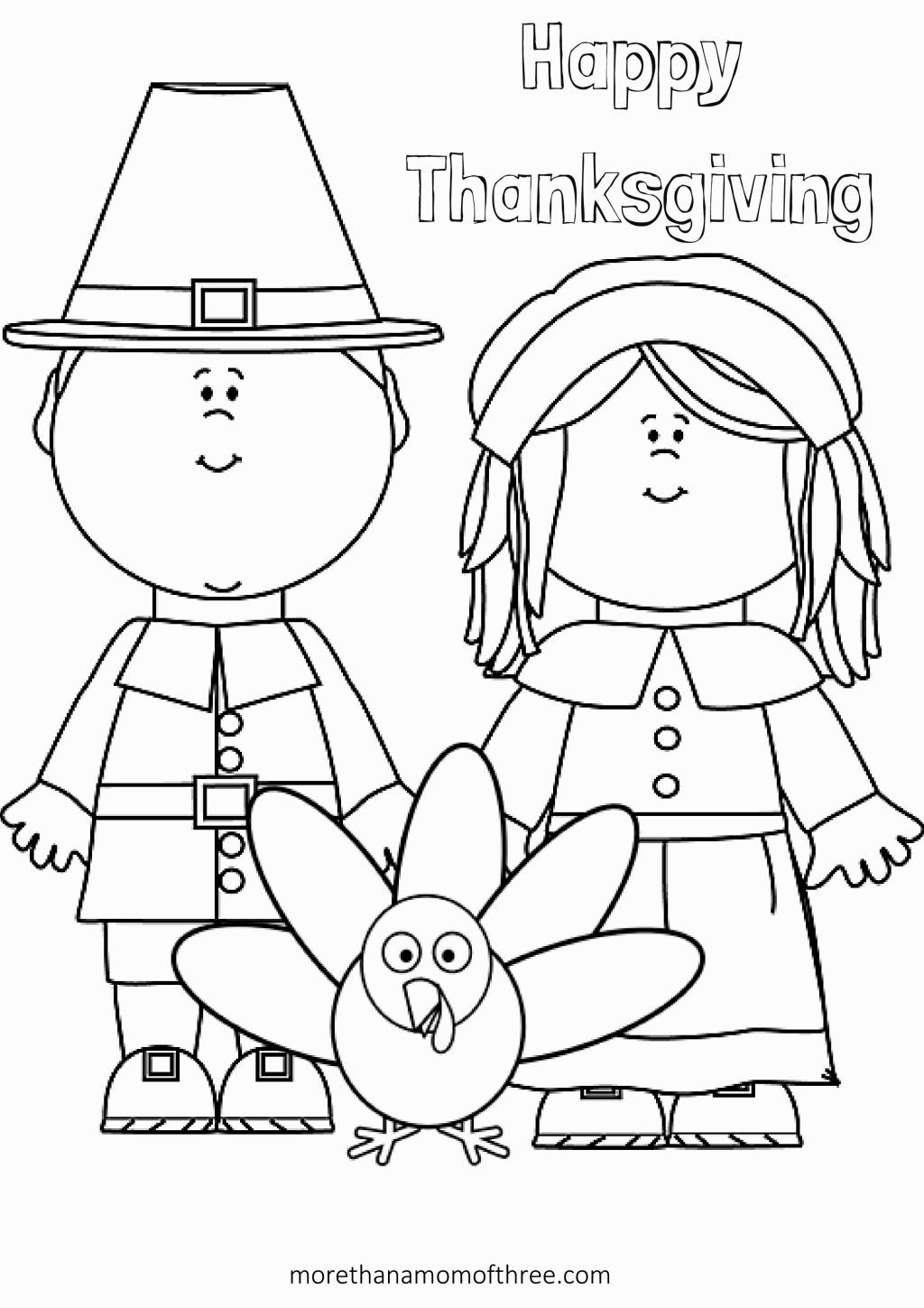 Thanksgiving Preschool Coloring Pages