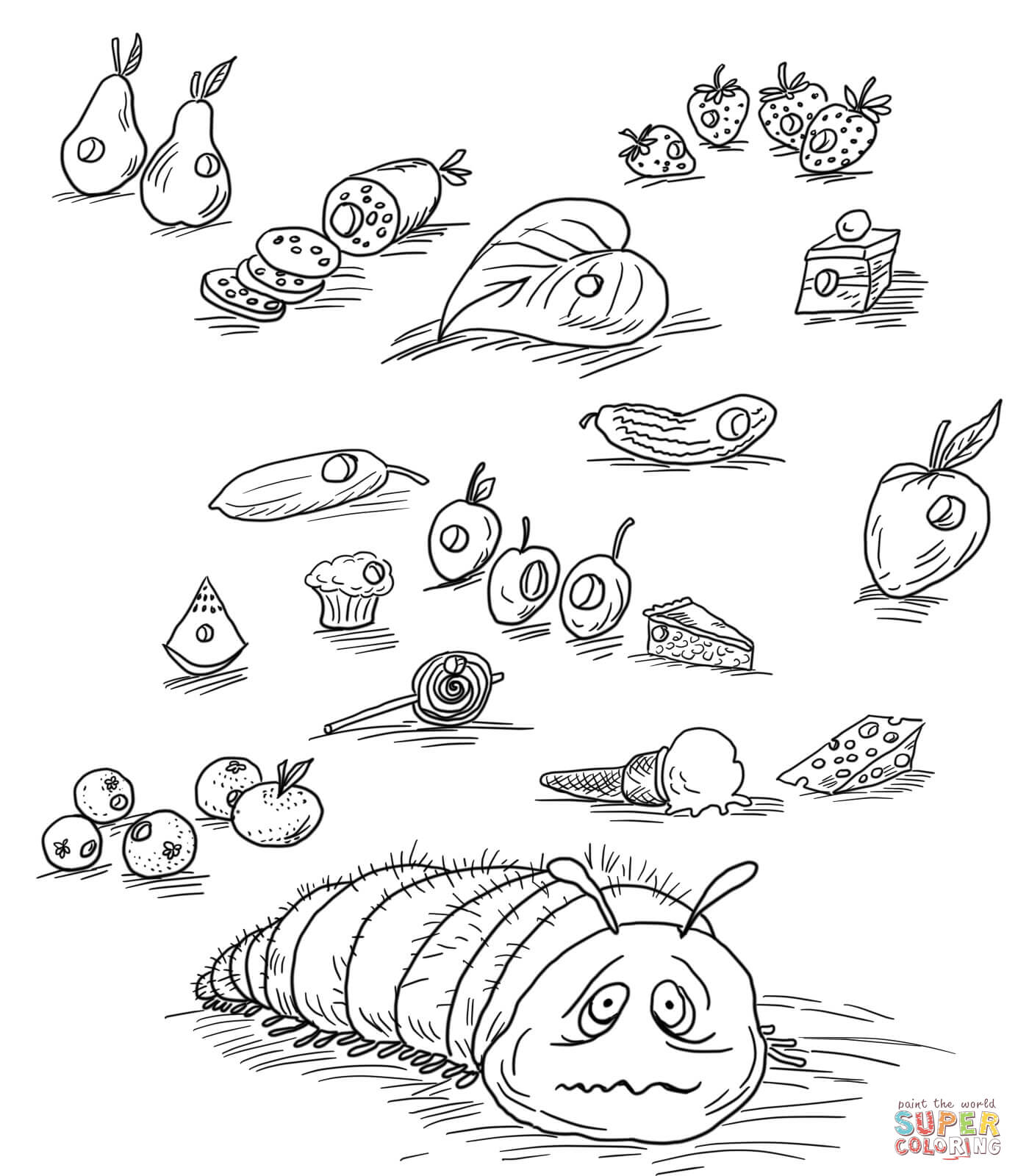 Very Hungry Caterpillar Coloring Pages