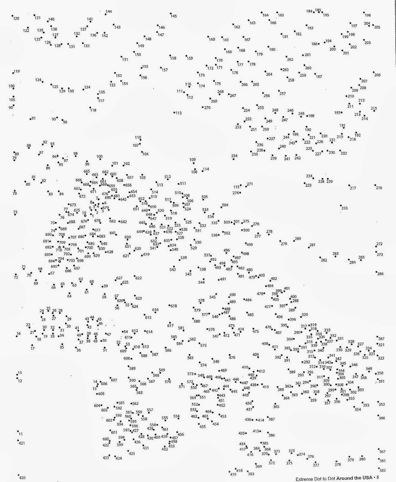 Difficult Dot To Dot Printables