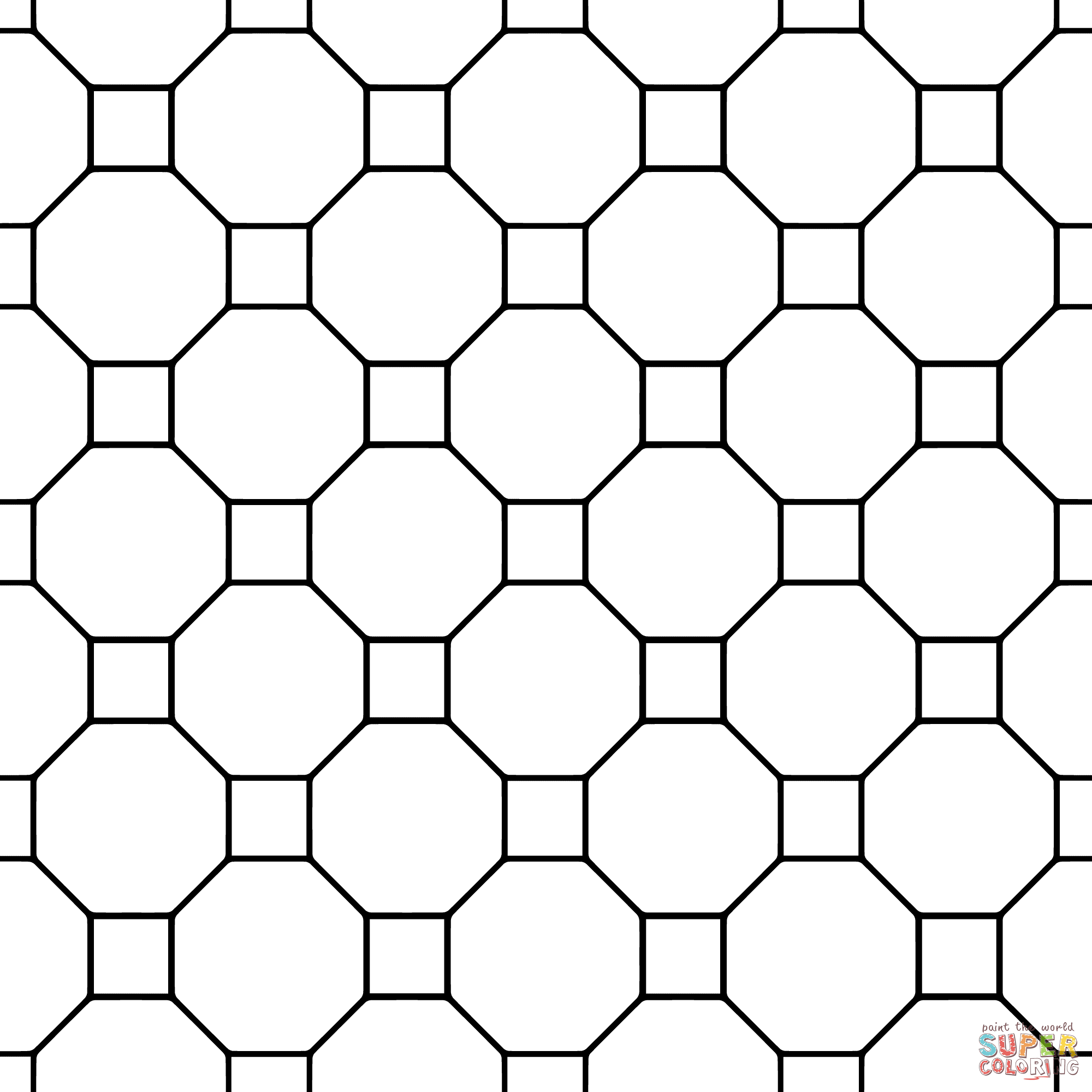 Printable Tessellation Coloring Pages