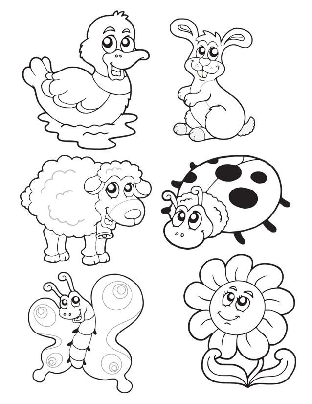 zedulot: spring coloring pages for kids printable