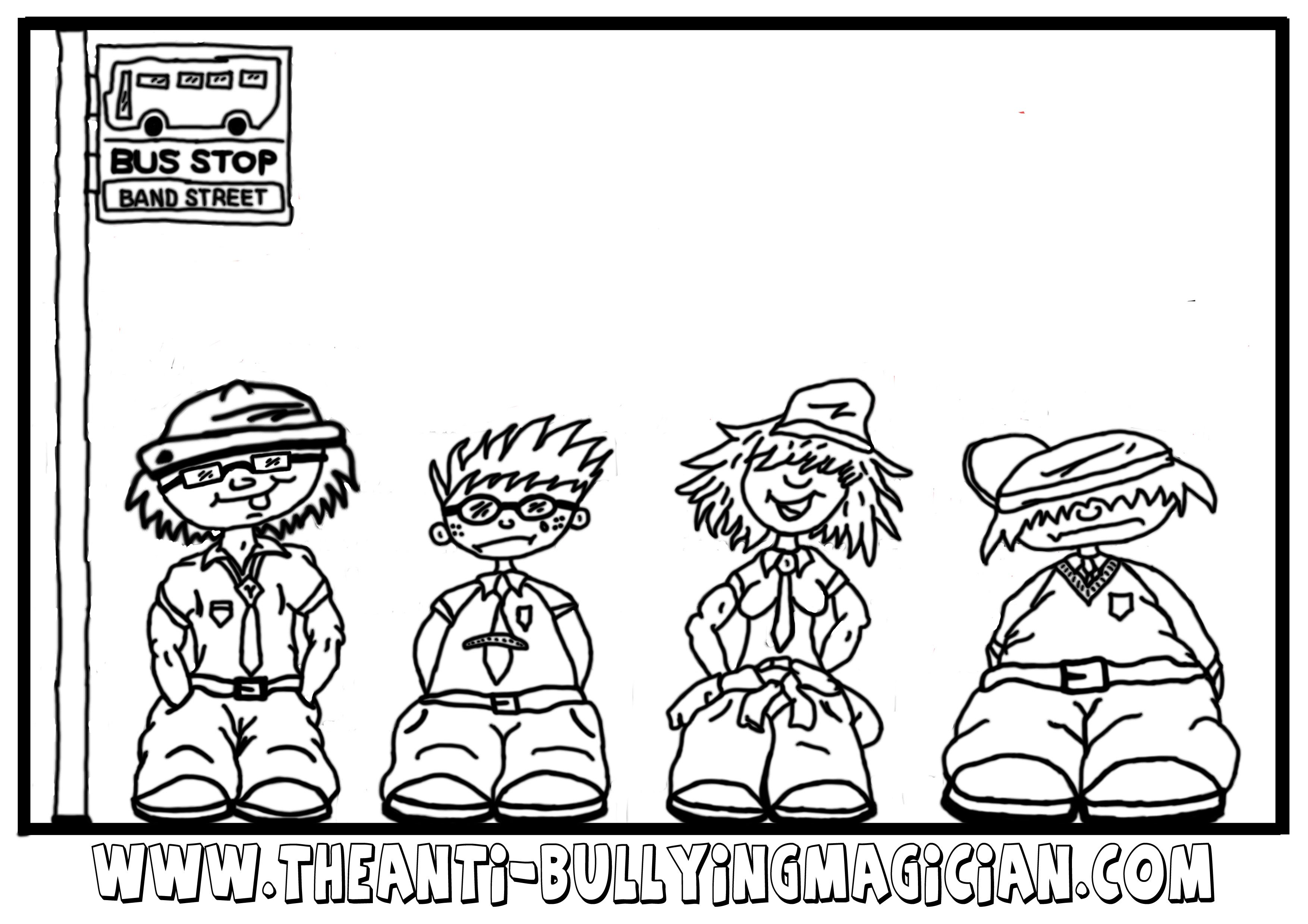 Stamp Out Bullying Pages Coloring Pages