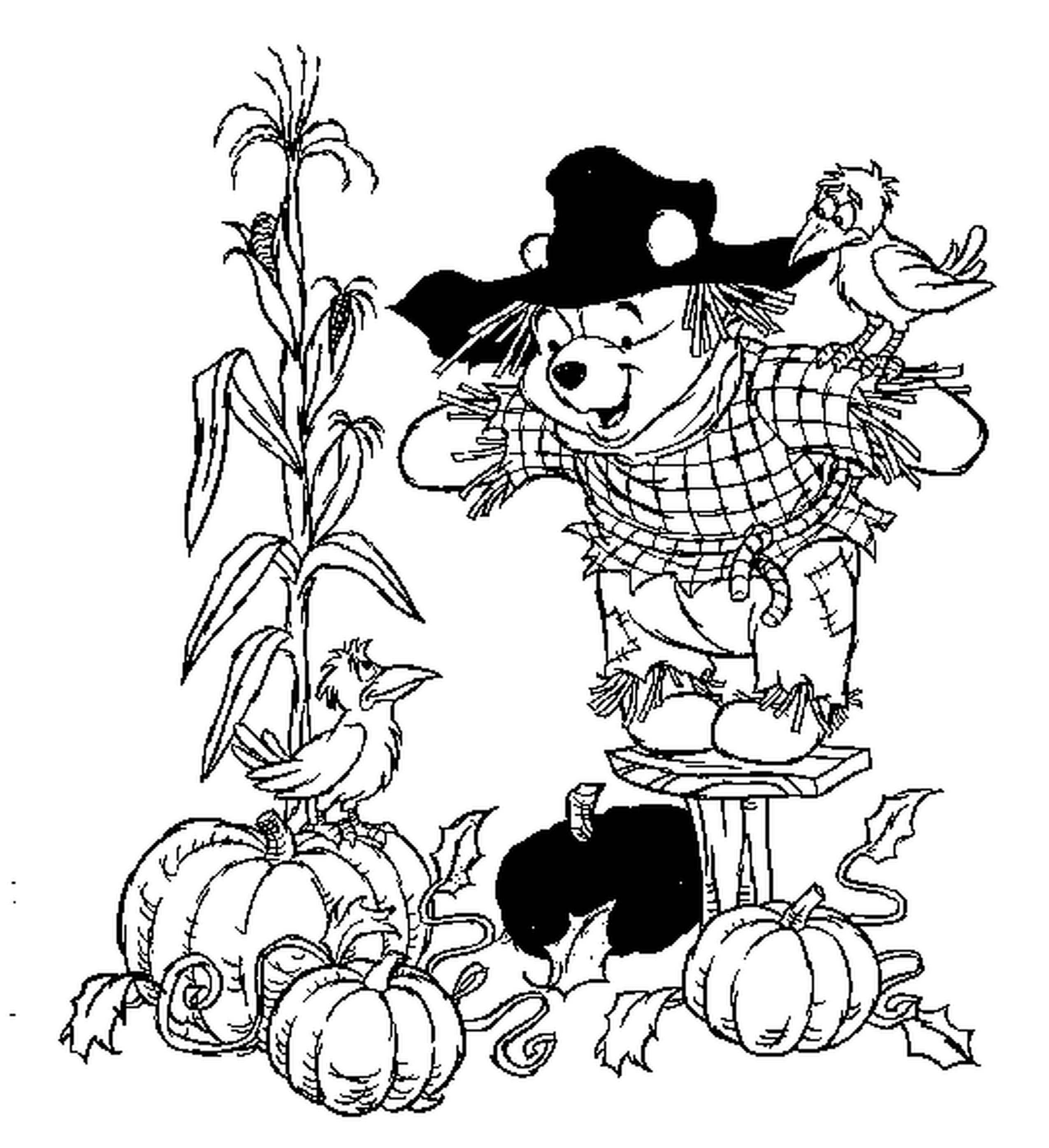 Autumn Coloring Pages For Preschoolers