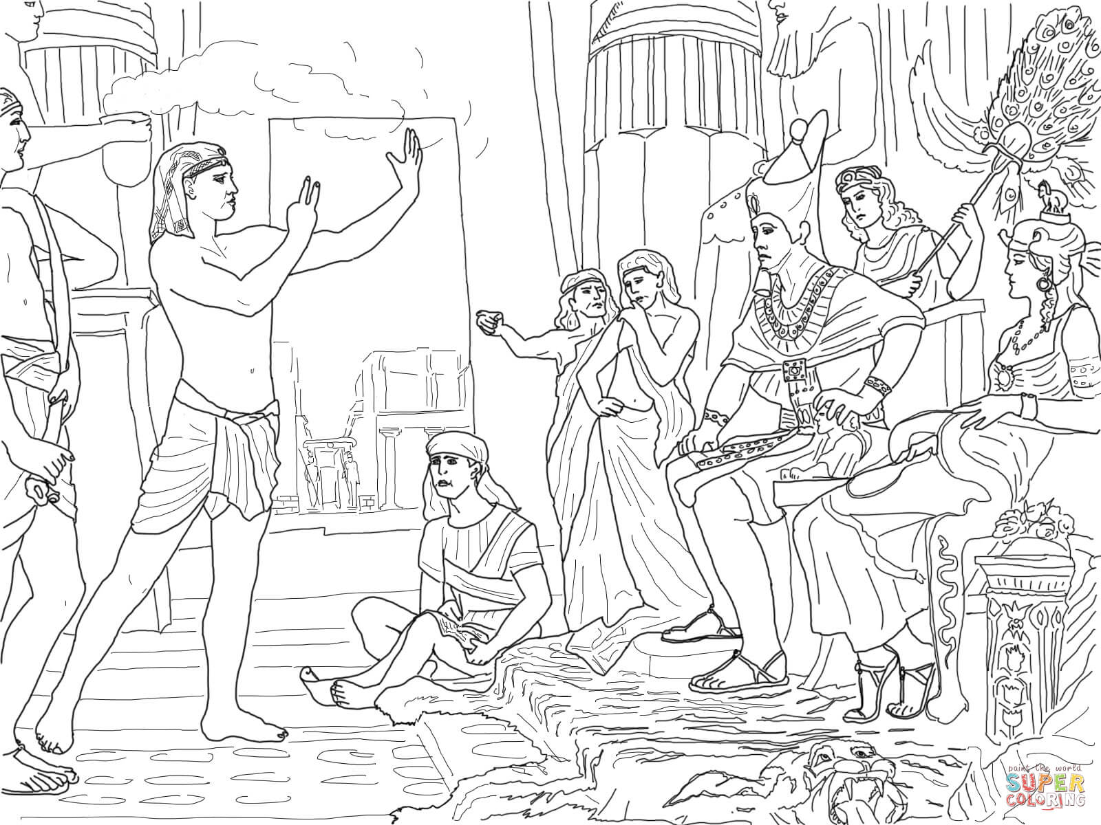 Joseph Forgives His Brothers Coloring Pages