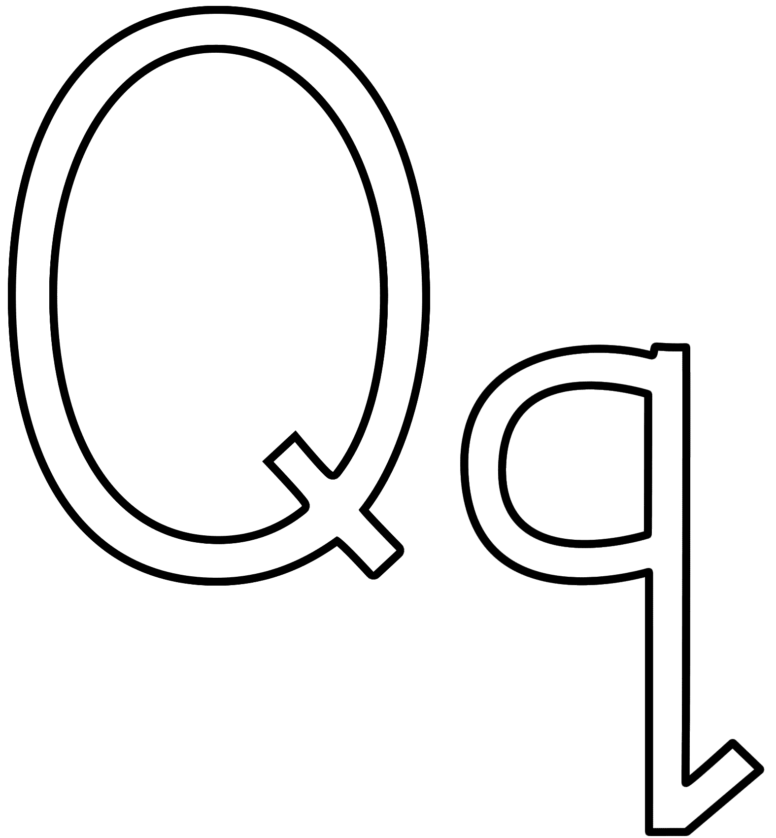 Coloring Pages Letter Q