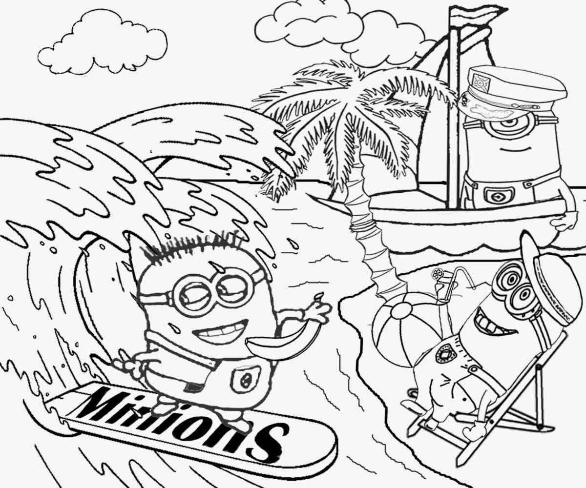Surf Coloring Pages Black And White
