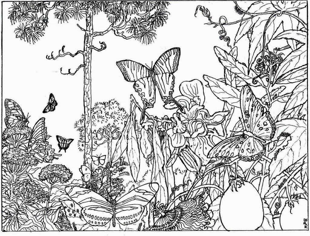 Free Adult Coloring Pages Landscapes