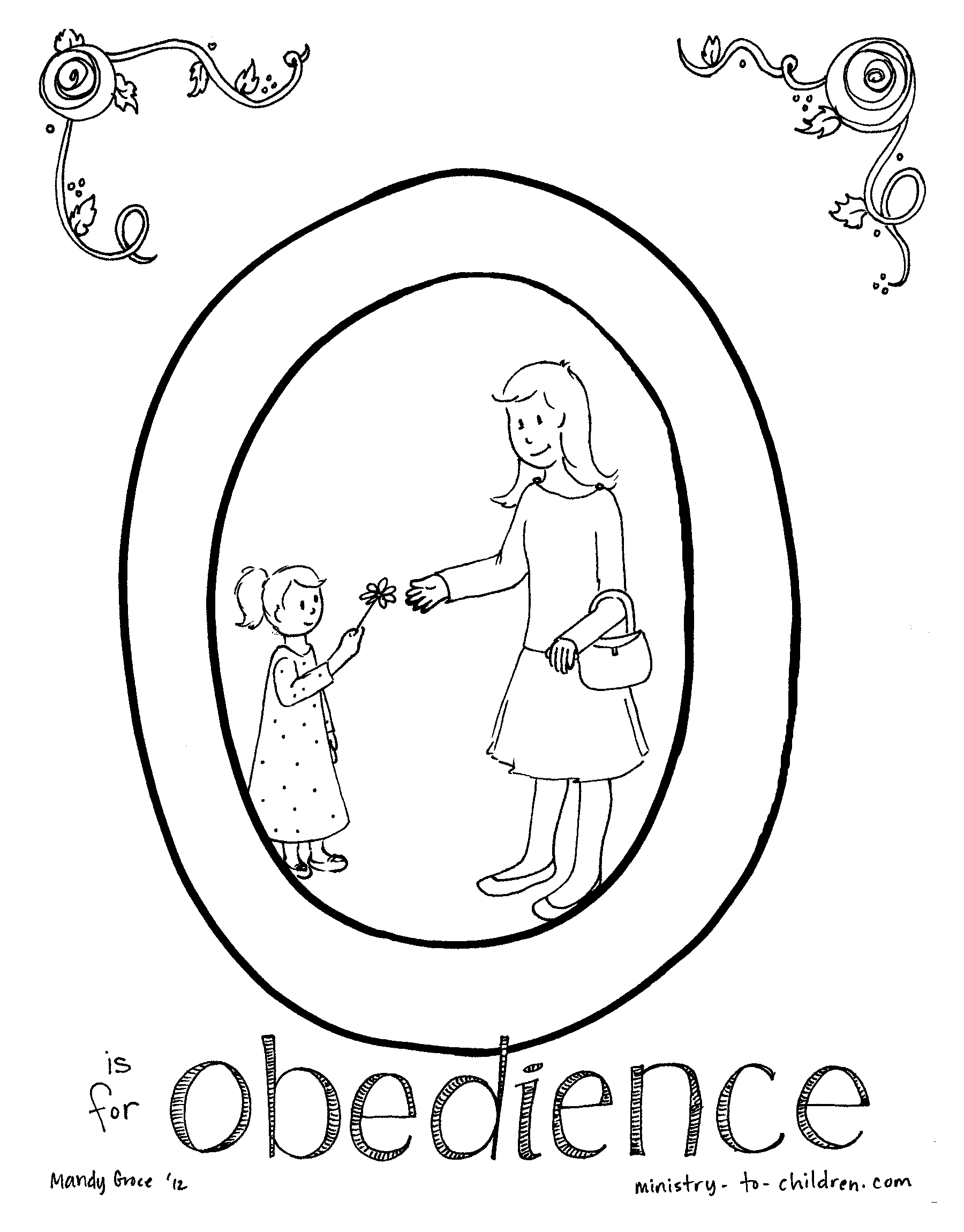 Obey Children Coloring Page