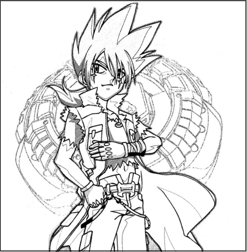 beyblade metal fusion coloring pages  learny kids