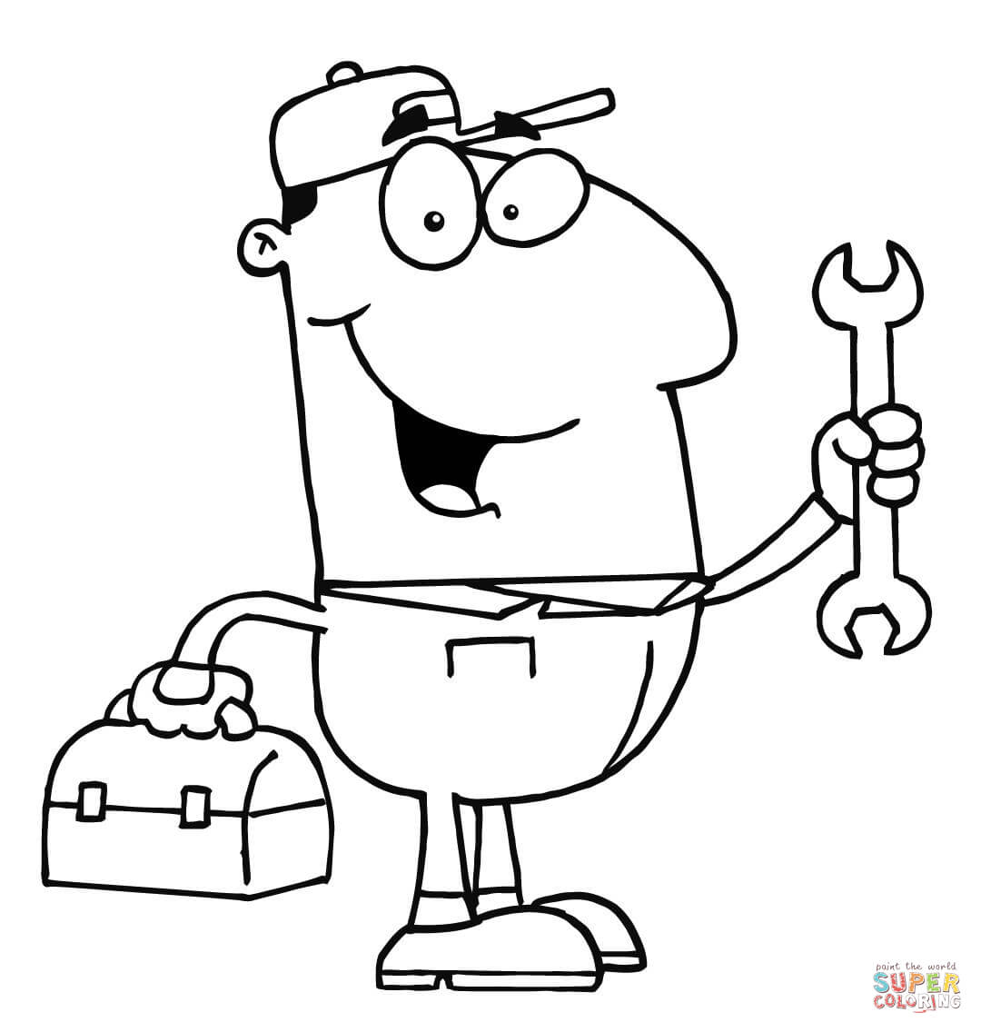 Repair Tools Coloring Crafts And Worksheets For Sketch