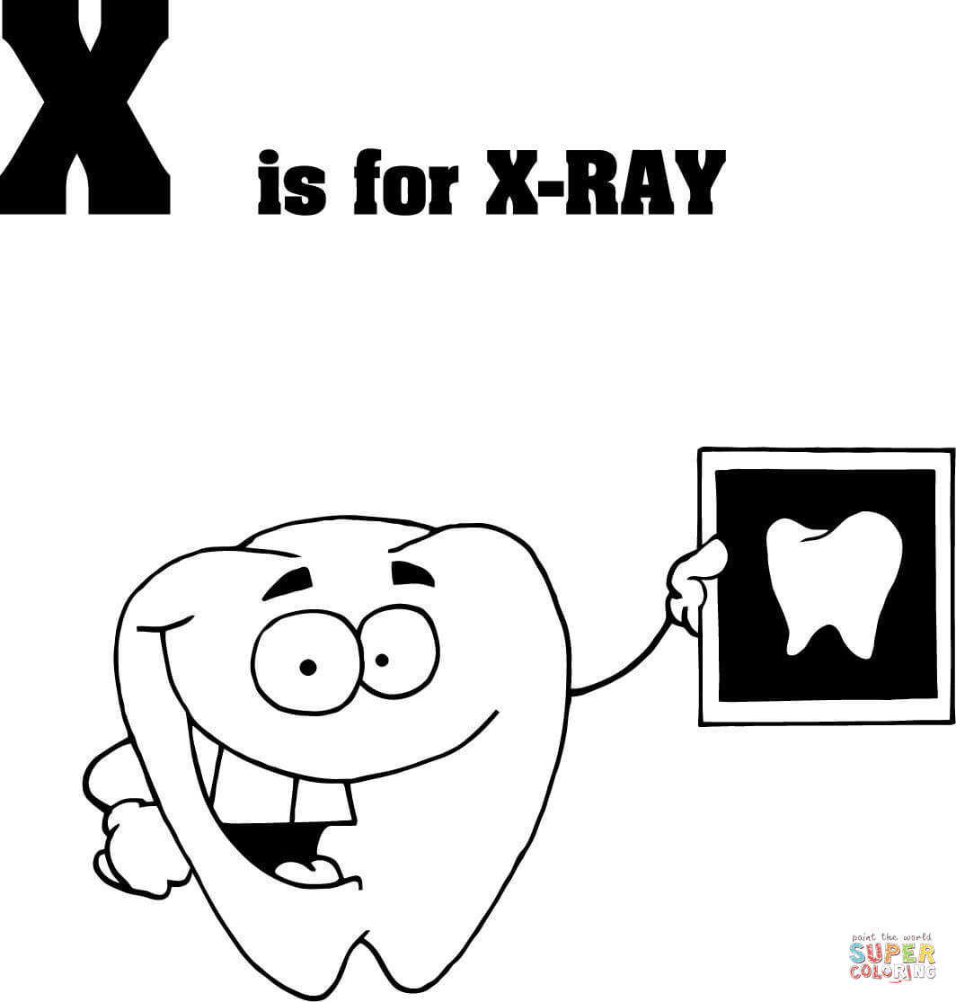 X Ray Coloring Page