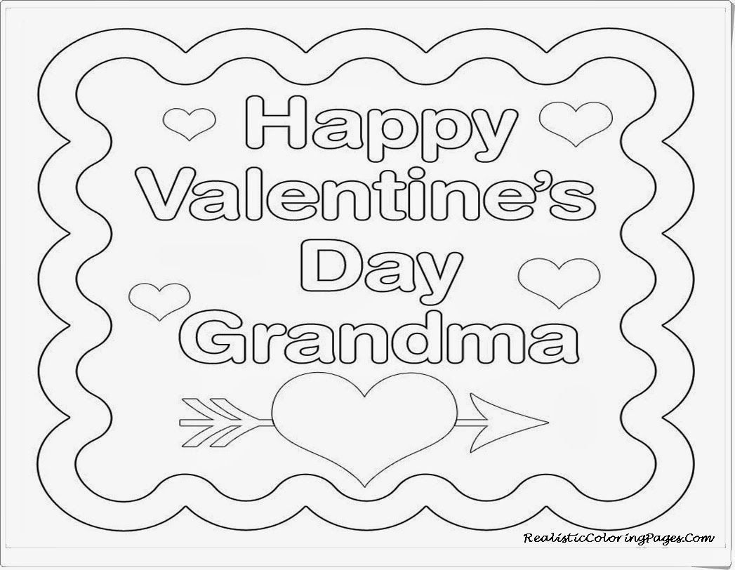 Coloring Pages For Valentines Cards