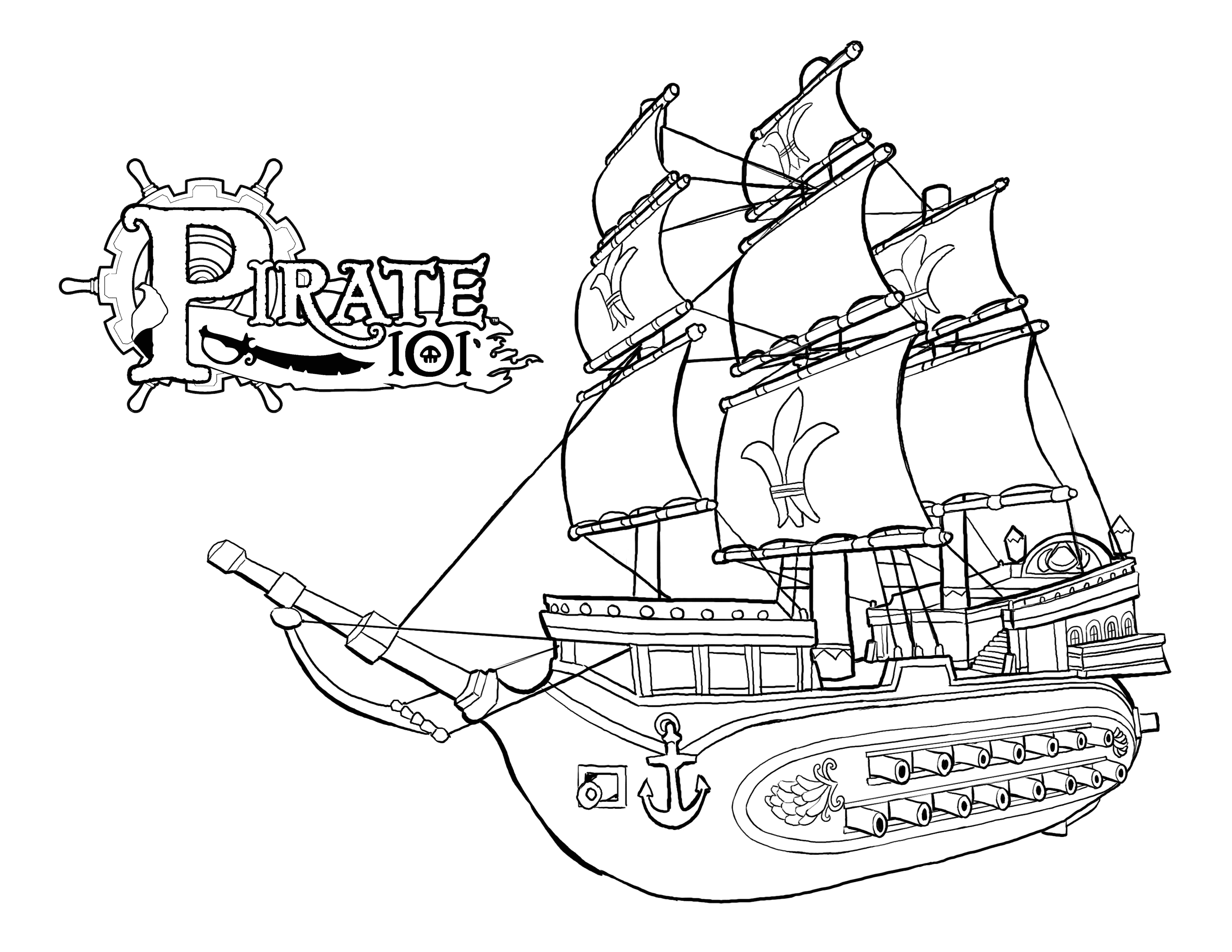 Pirate Skulls Coloring Pages
