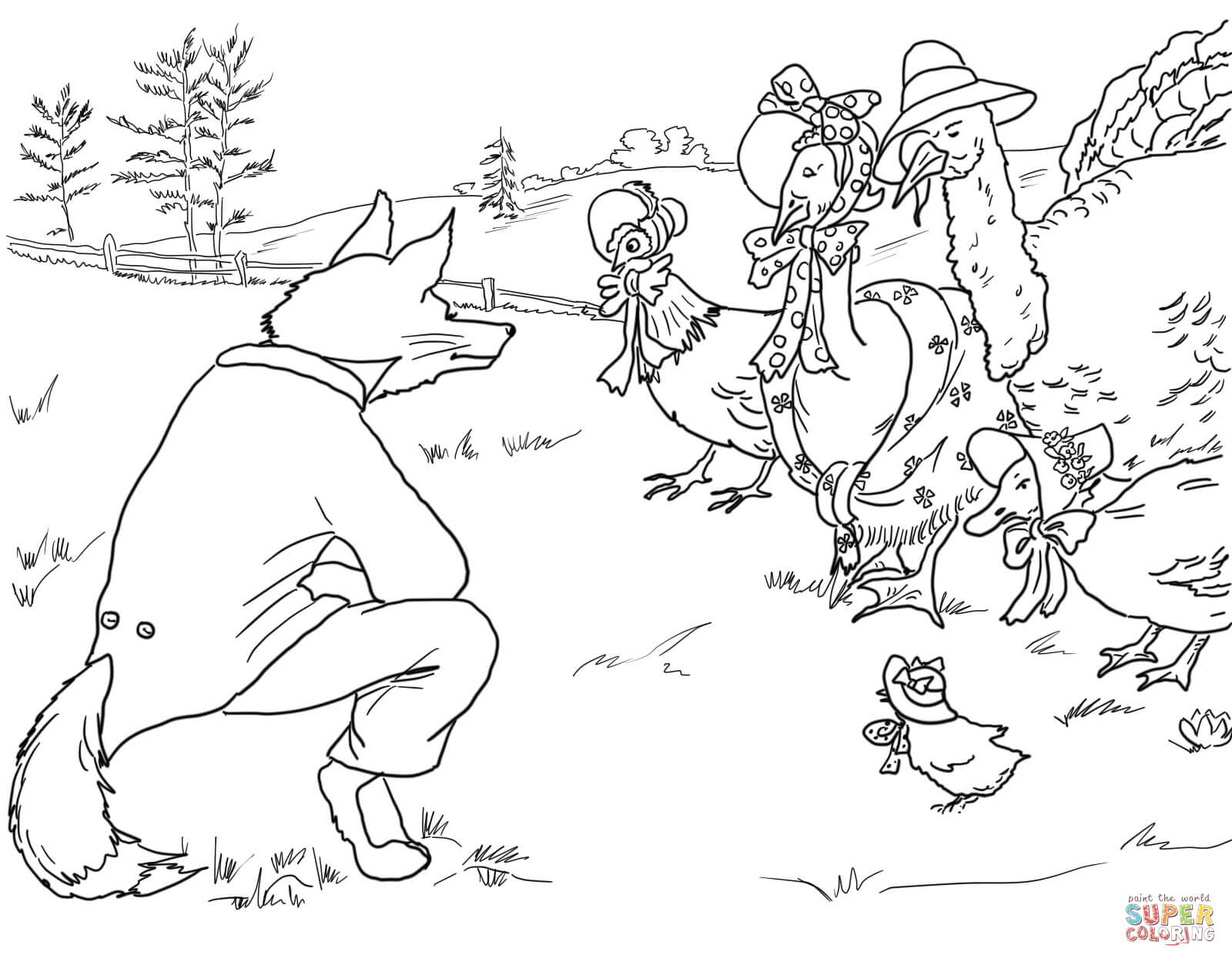 Birds In Sky Coloring Pages