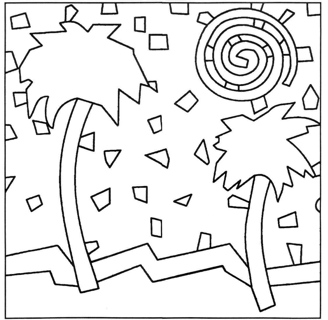 Mosaic Coloring Pages Of Animals