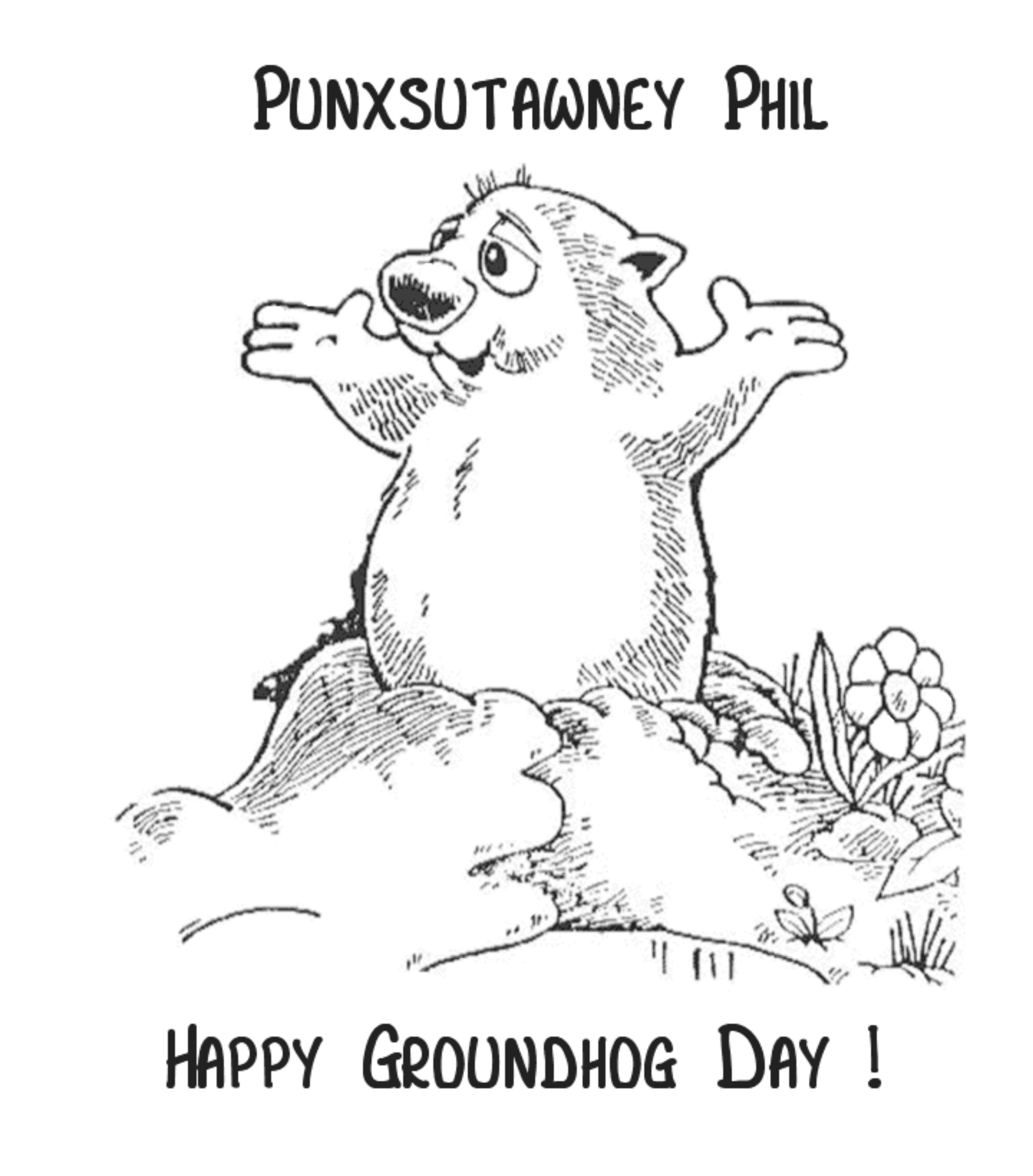 Groundhog Day Coloring Pages Free Printable
