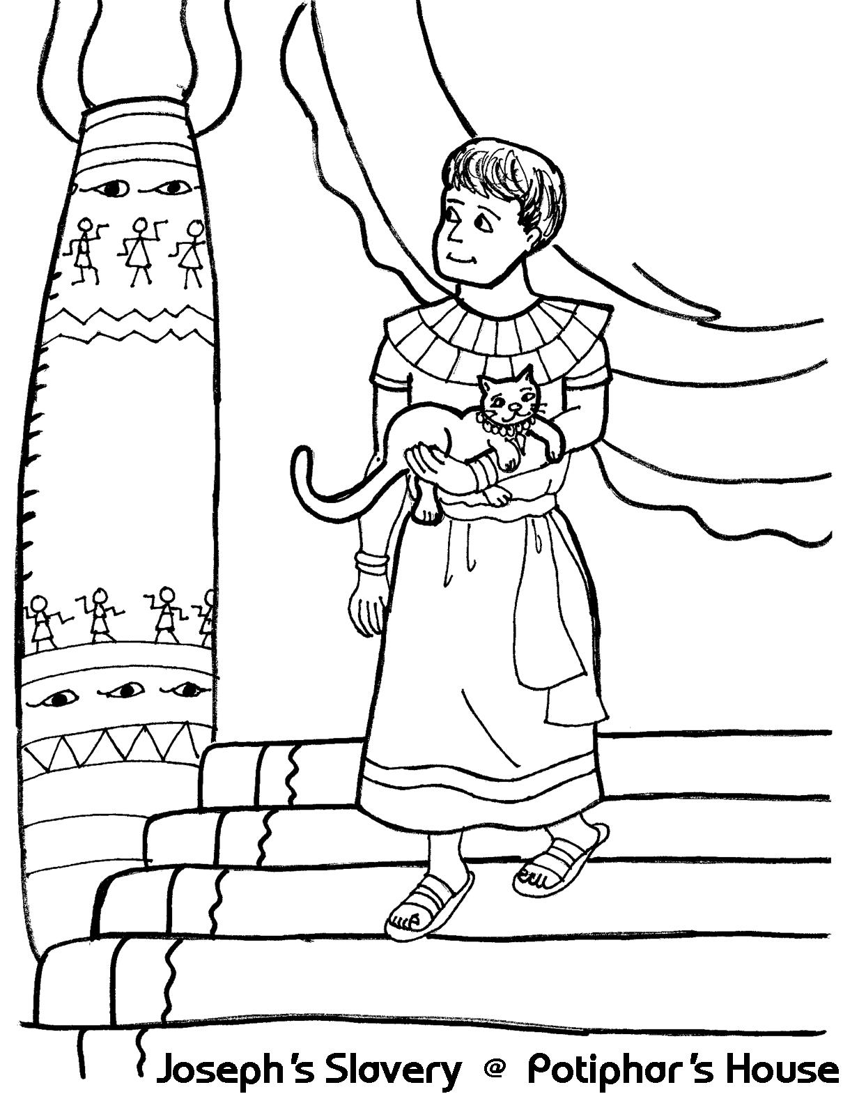 Joseph Sold Coloring Page