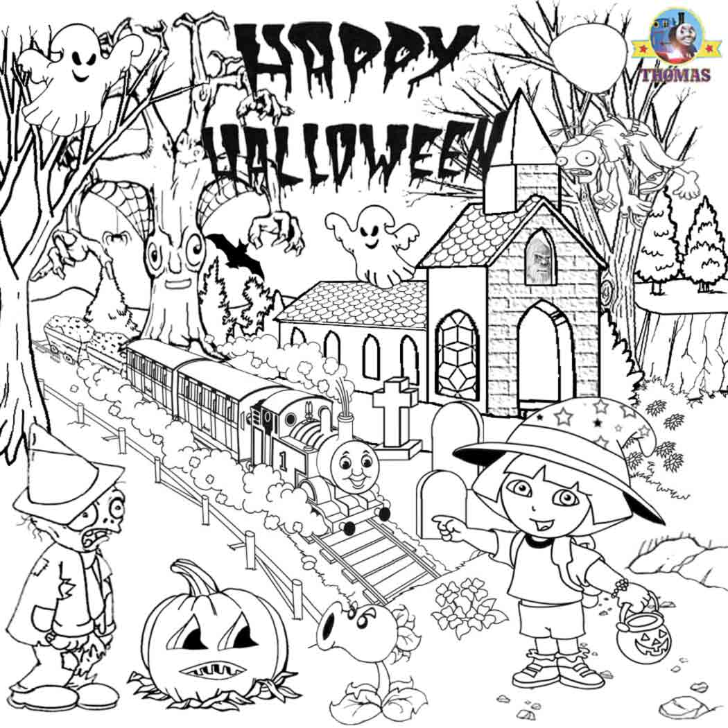 Fall Halloween Coloring Pages