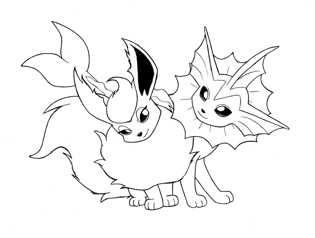 Pokemon Vaporeon Coloring Pages