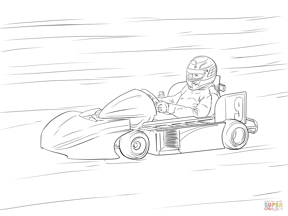Go Kart Coloring Pages