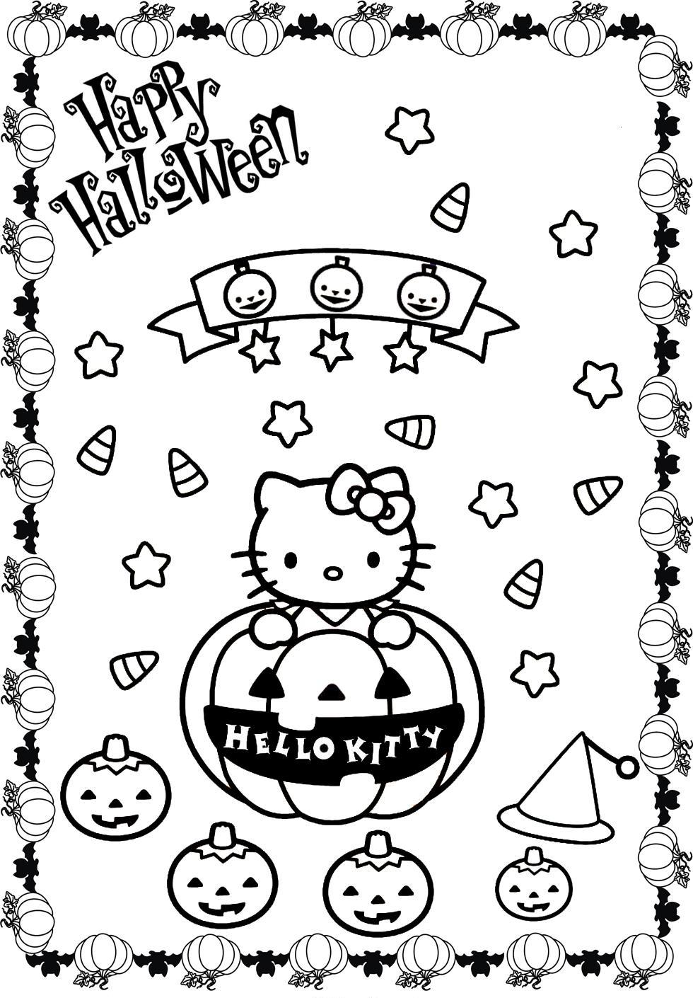 Hello Kitty Halloween Coloring Page AZ Coloring Pages