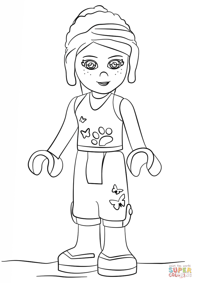 Lego Friends Coloring Pages Printable AZ Coloring Pages