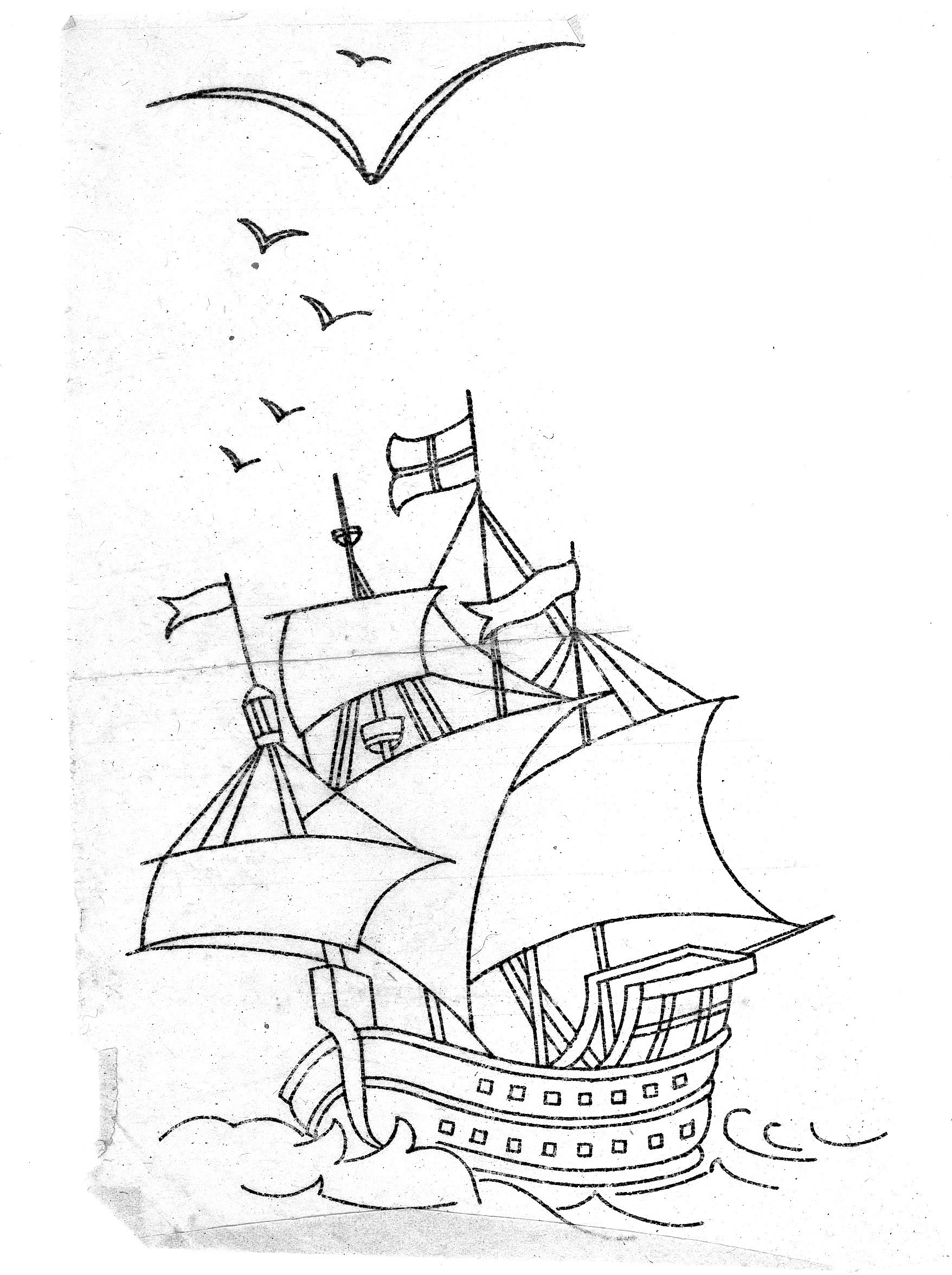 Mayflower Coloring Page Sketch Coloring Page