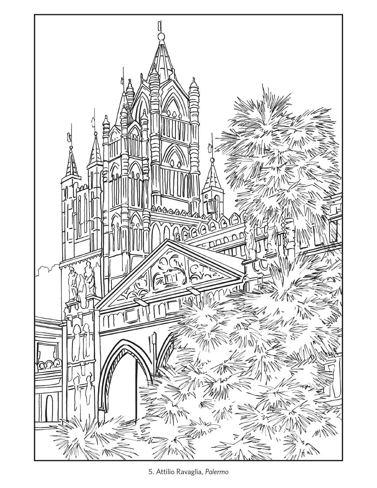Italian Coloring Page