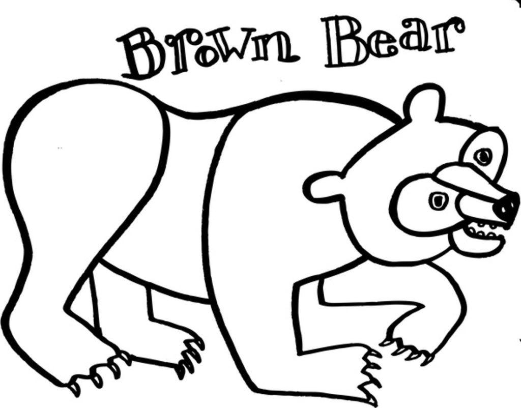 Brown Bear Coloring Page Eric Carle