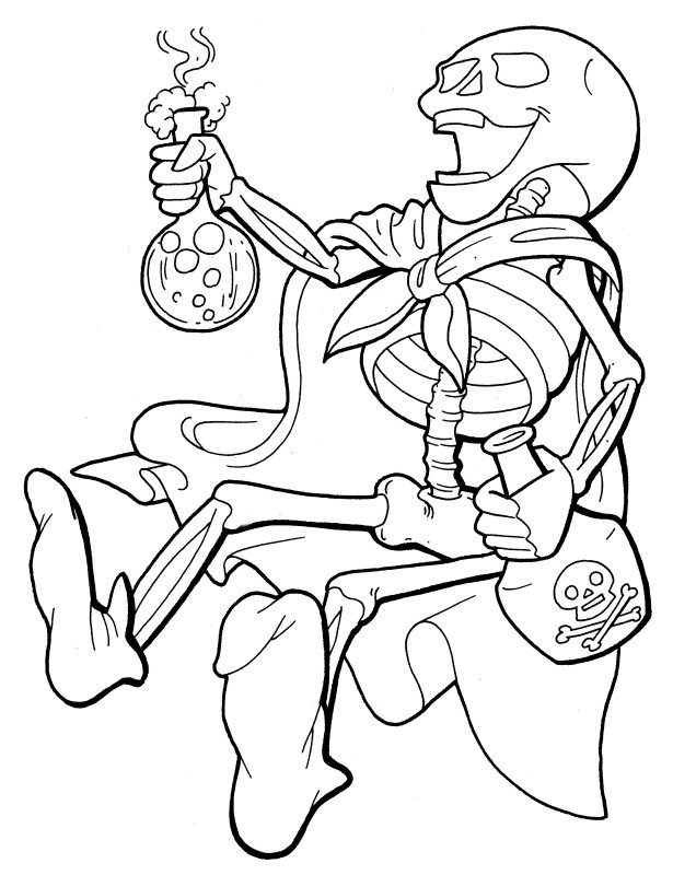 Free Skeleton Coloring Pages AZ Coloring Pages