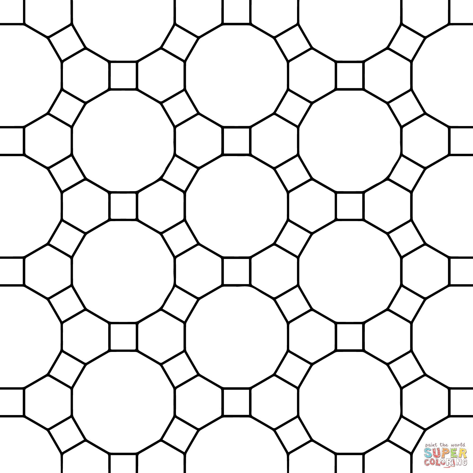 Printable Tessellations Coloring Pages Sketch Coloring Page