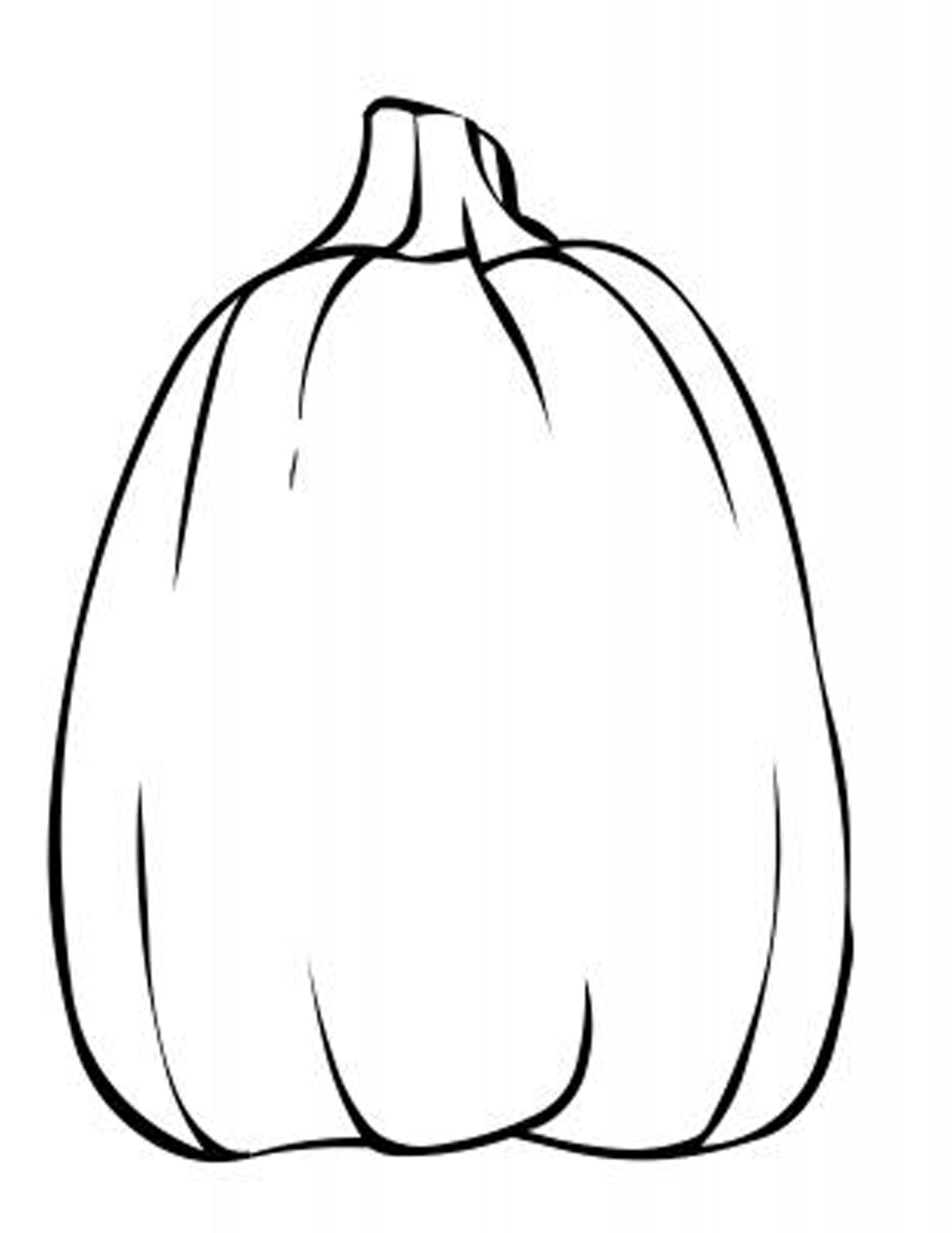 Blank Pumpkin Template Coloring Home Sketch Coloring Page