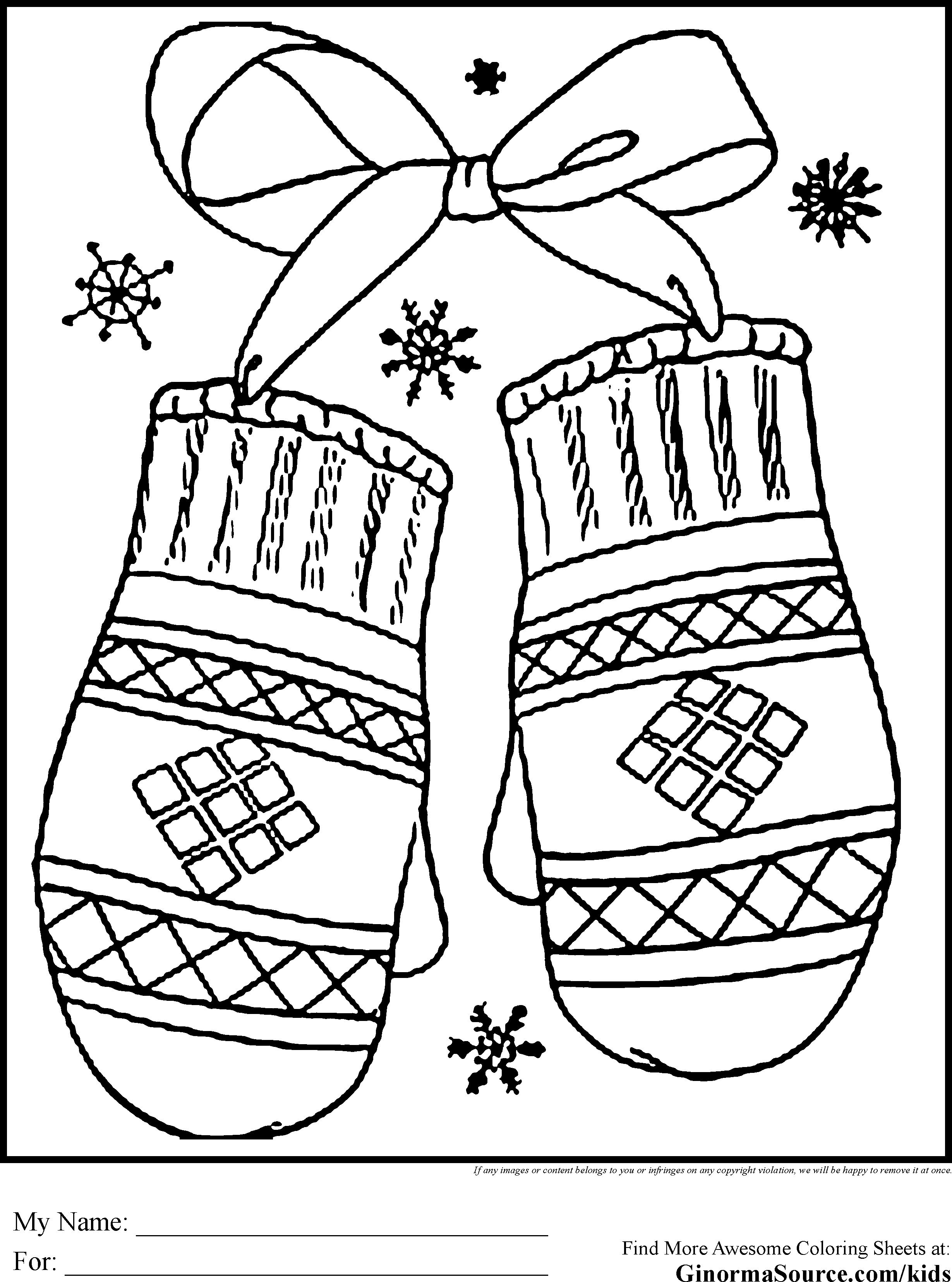 Free Coloring Pages For December Holidays