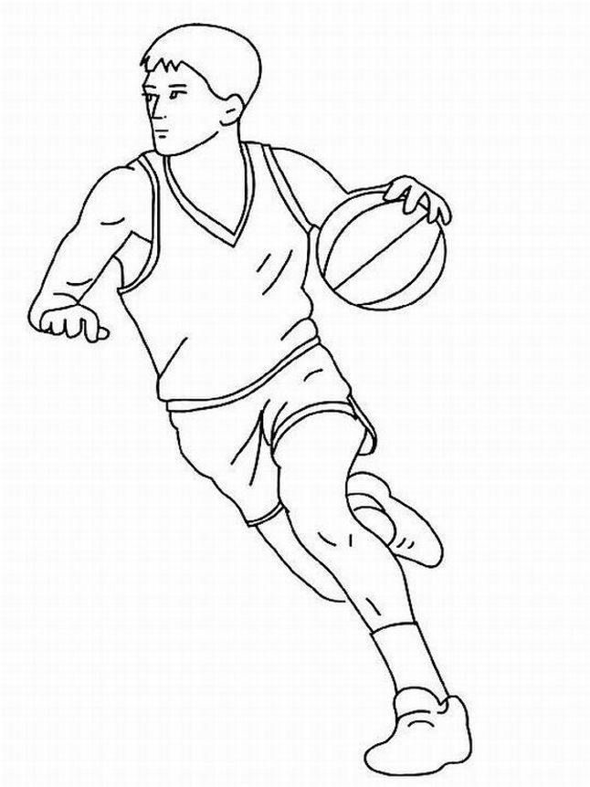 Basketball Color Pages Coloring Home
