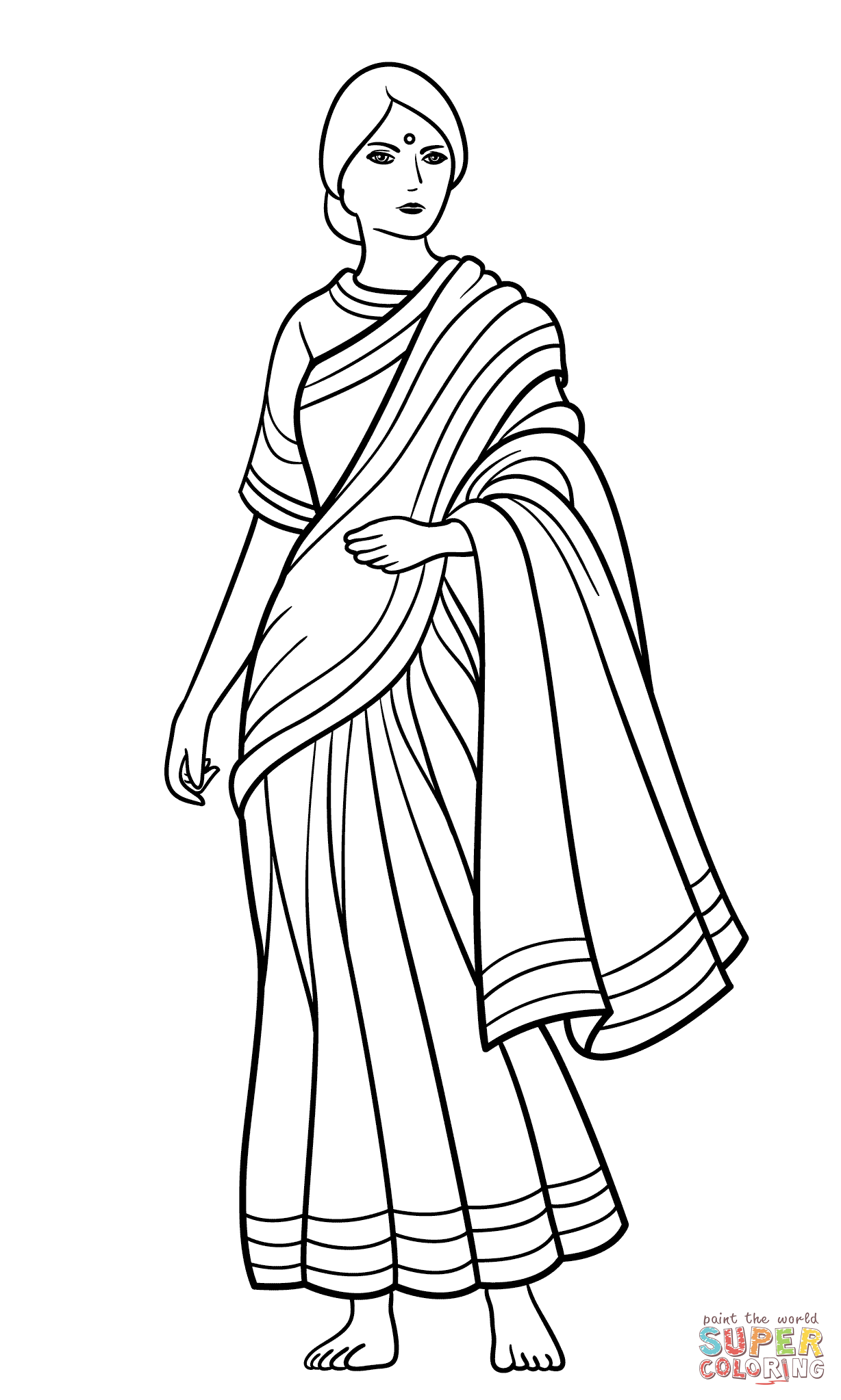 Indian Man Coloring Page