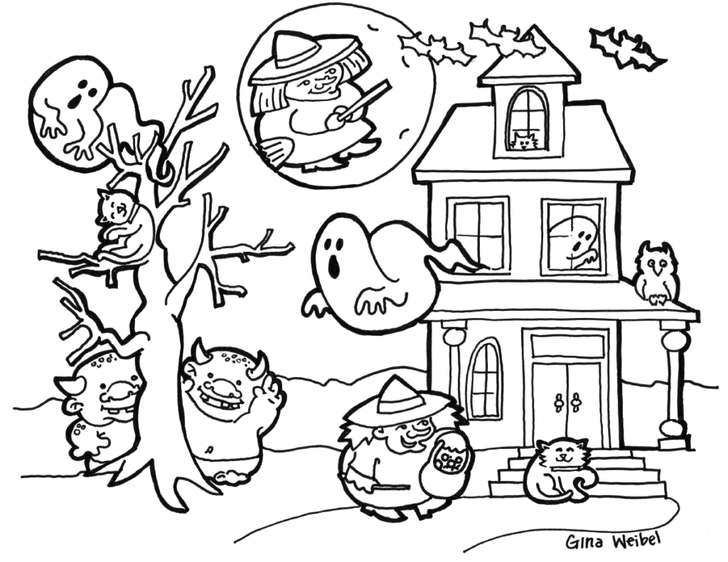 Hard Halloween Coloring Pages