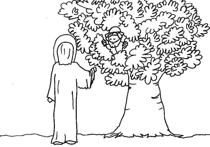 Coloring Pages Zacchaeus Free Coloring Pages Free Coloring Pages