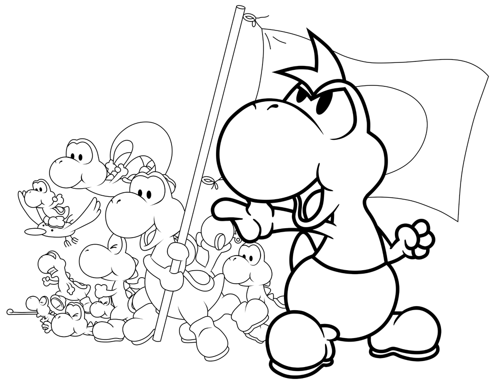 Paper Mario Coloring Pages AZ Coloring Pages