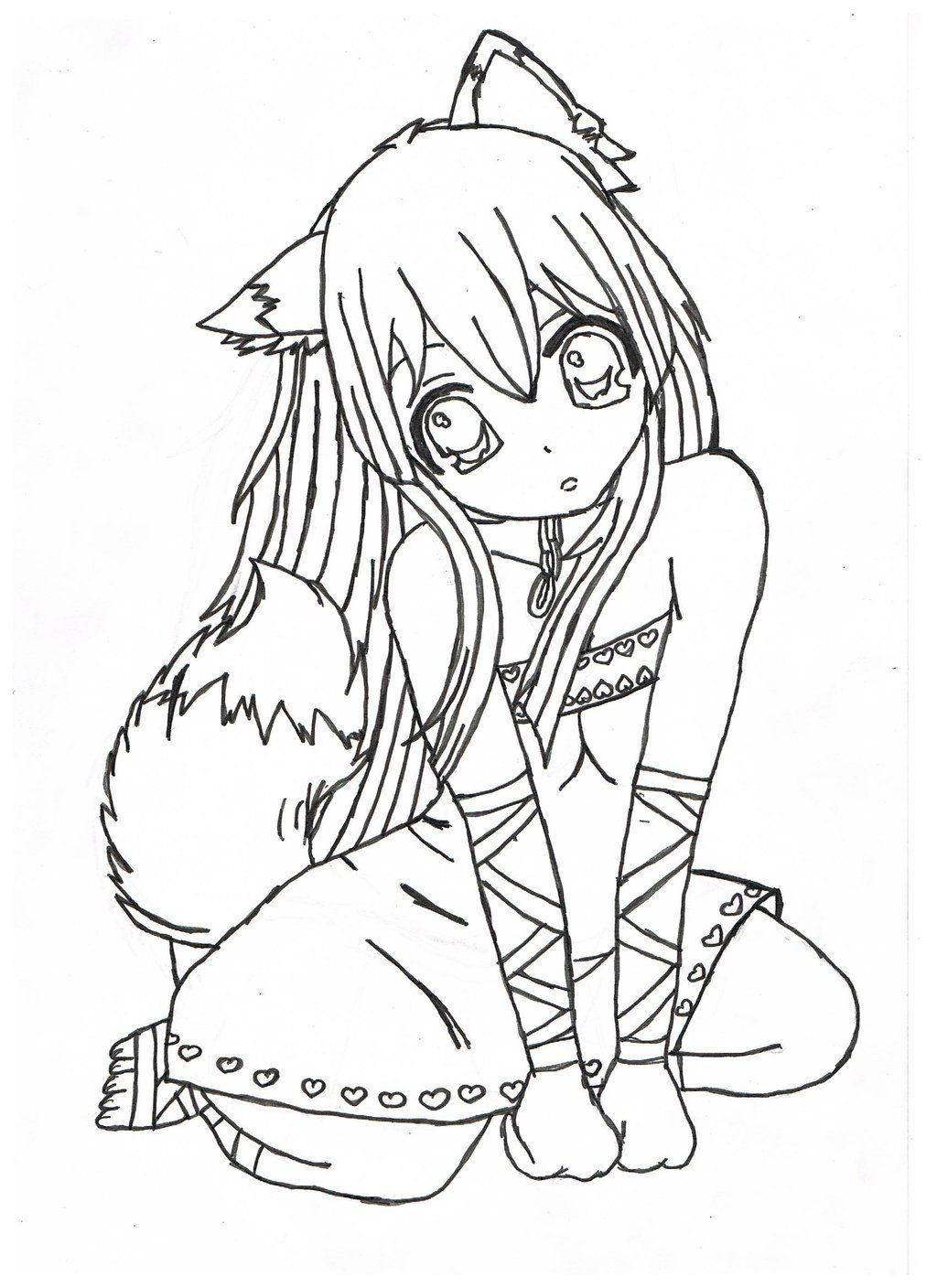 Print Anime Coloring Pages