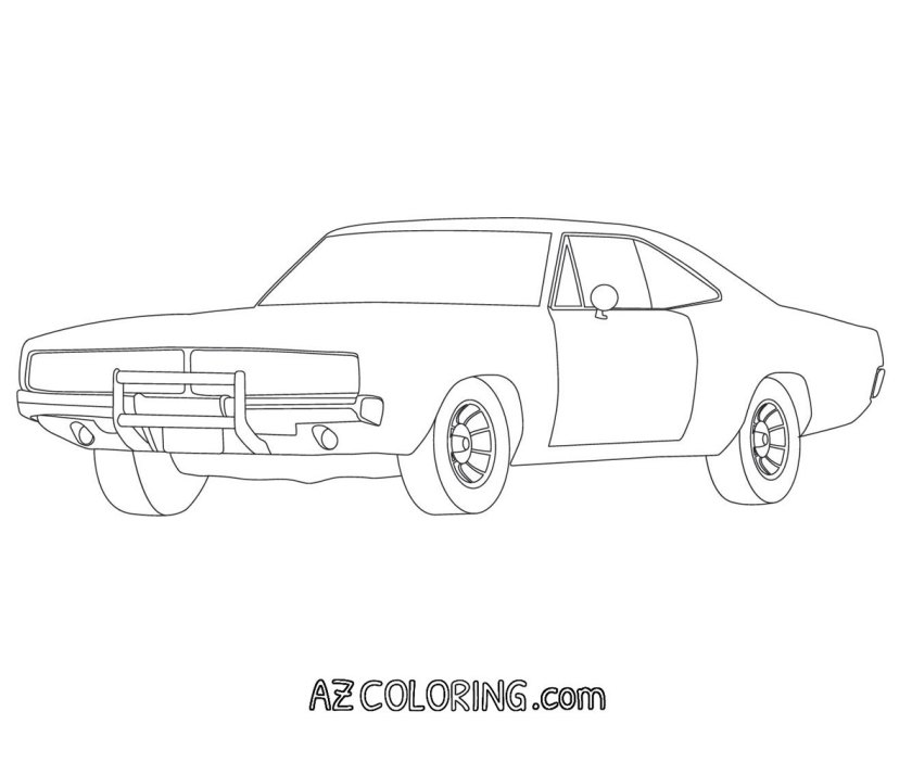 dodge charger outline coloring page coloring pages