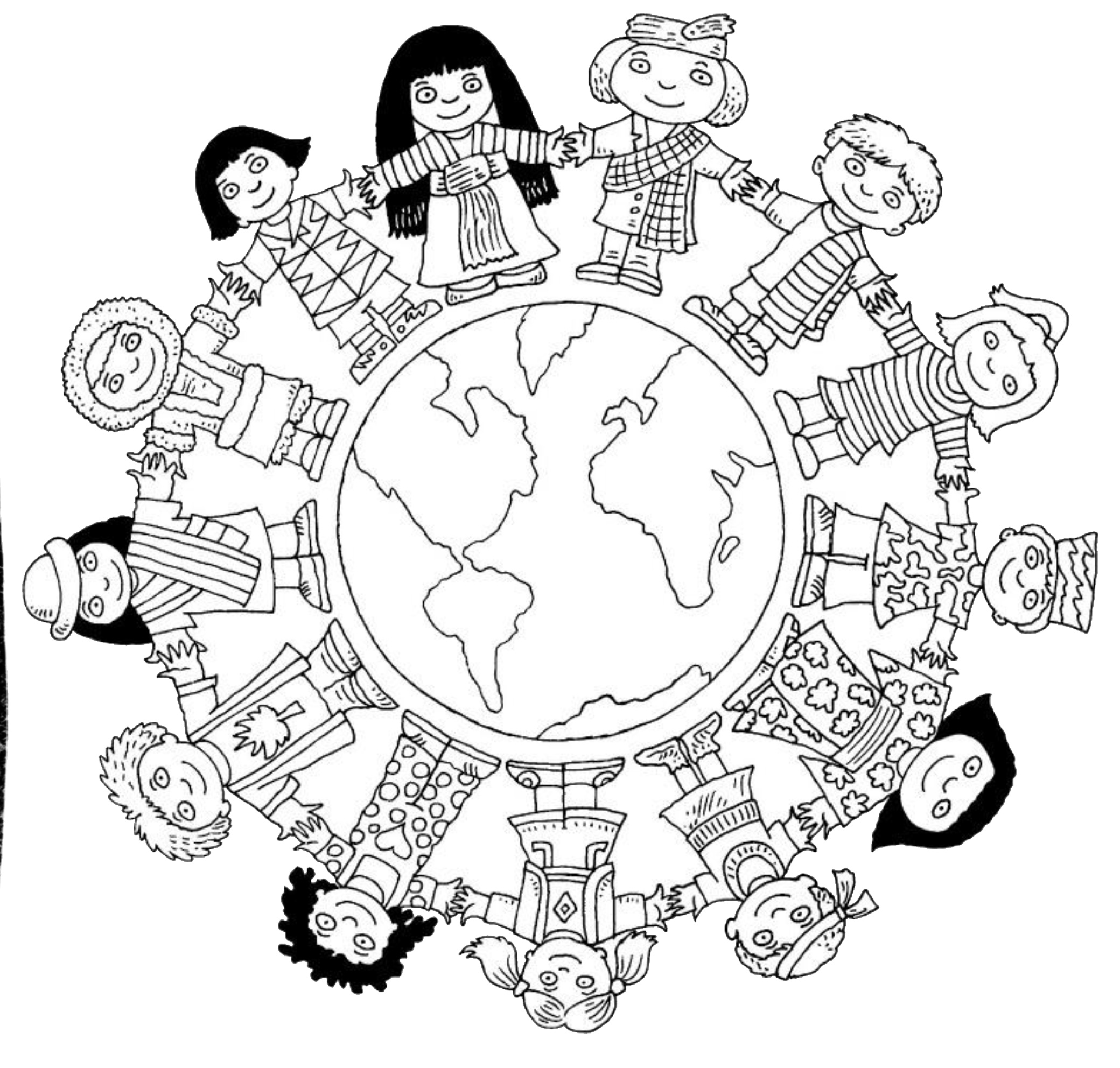 Coloring Pages Of Children Around The World