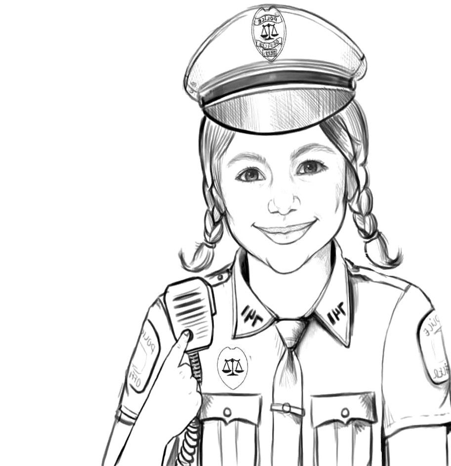 POLICE MAN COLORING PAGE Coloring Home