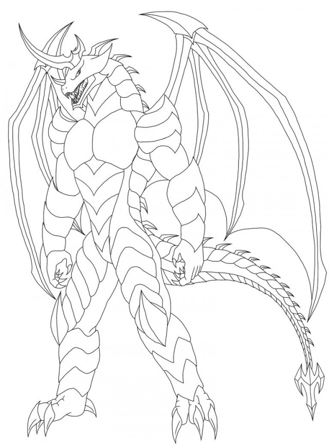 furry dragon coloring coloring pages